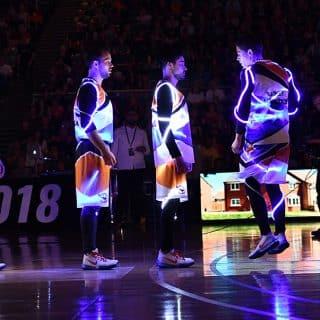 animation LED avec les barjots dunkers