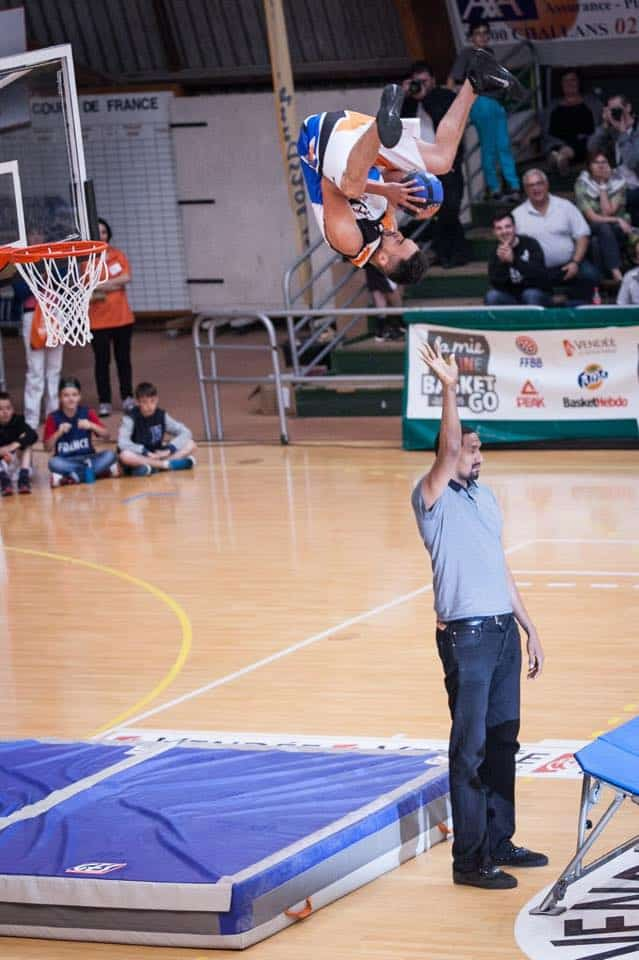 Mie câline tournoi basket acrobatique