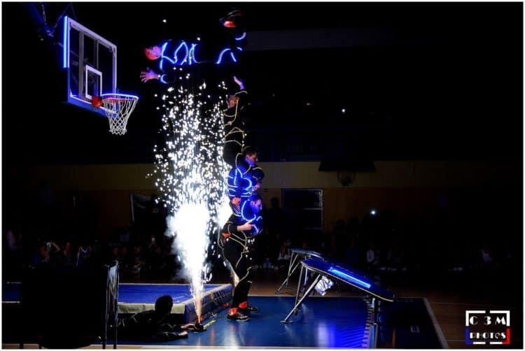LED show basket acrobatique