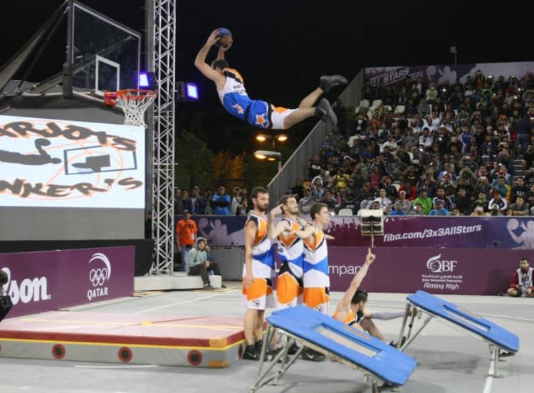 qatar acrobatic basketball