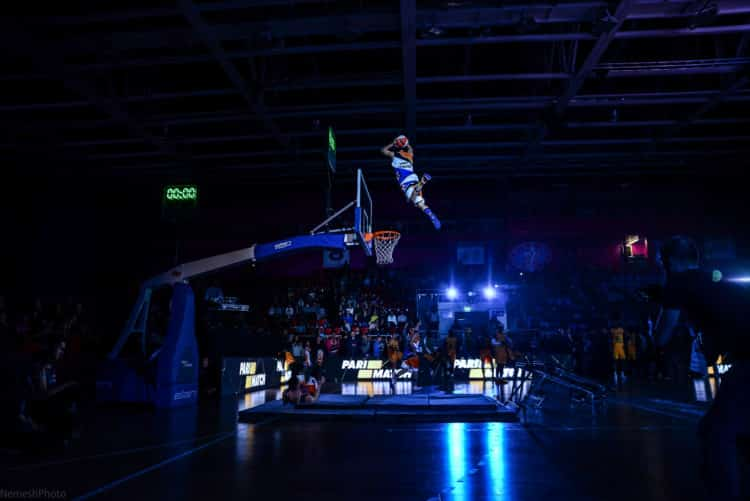 Acrobatic basketball best in the world dunk team