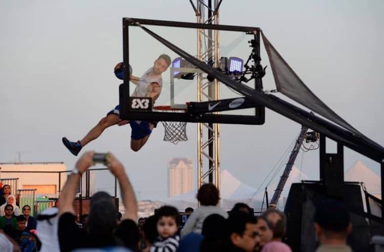 acrobatic basketball in Doha