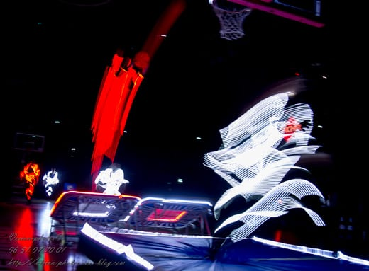 LED artistique spectacle dunk