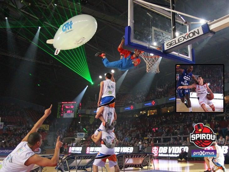 Belgique spirou show dunk barjots dunkers