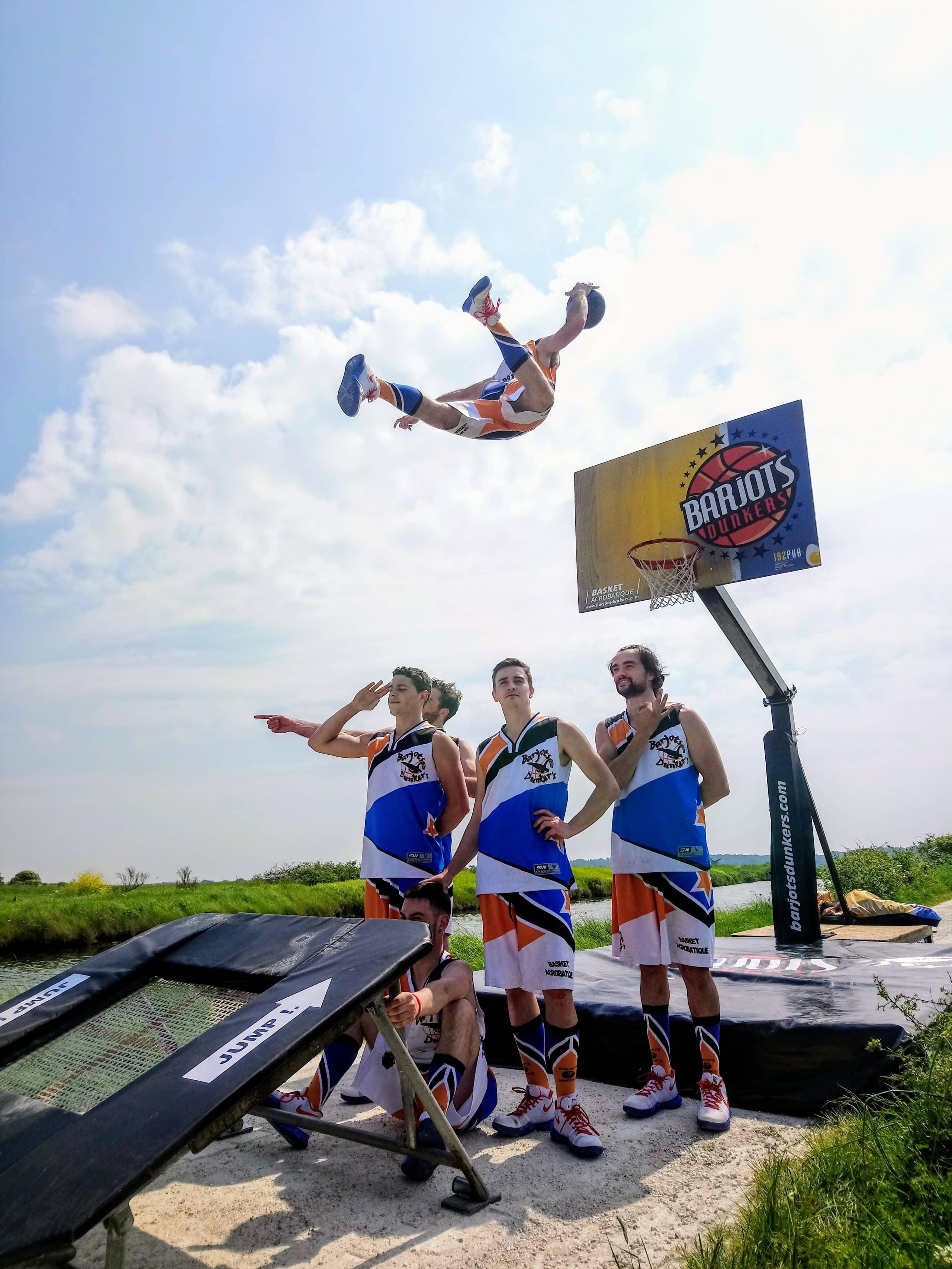 basket acrobatique barjots