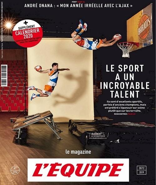 Journal L'EQUIPE Magazine Barjots dunkers en première page